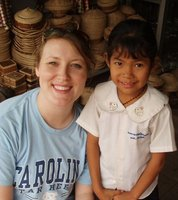 Cambodian girl and me